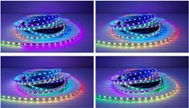 5050 RGB Black or White pcb APA104 led strip